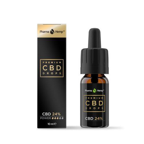 PharmaHemp® Prémium CBD Olaj Olívaolajjal 24%-os (2400 mg CBD)  10ml